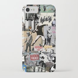 Banksy Collage iPhone Case