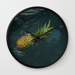 Welcome to Pineapple in Nude Wall Clock
