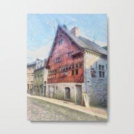 Durbuy - La Halle aux Blés Metal Print