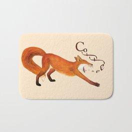 Coffee Fox Bath Mat