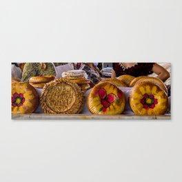 National uzbek bread - Samarkand, Uzbekistan Canvas Print