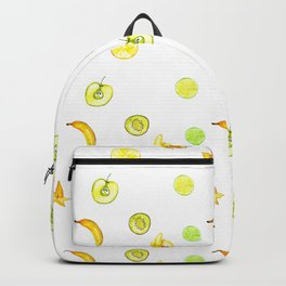 Summer yellow neon green orange fruity pattern Backpack