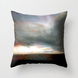 Dusk over Sandymount Strand Dublin Throw Pillow
