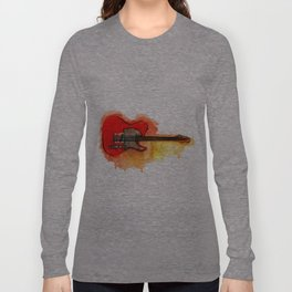 Watercolor guitar Long Sleeve T-shirt