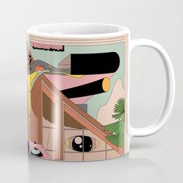 Modern Pizza Bird House Coffee Mug