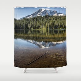 Above and Below the Surface at Reflection Lake Shower Curtain