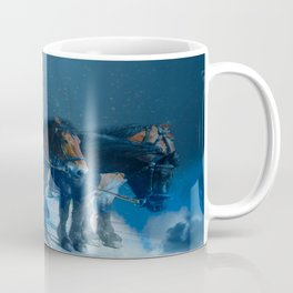 Horse drawn carriage from the sky Coffee Mug