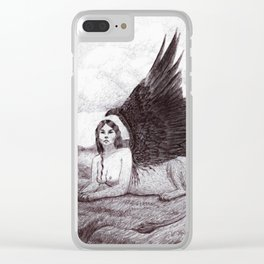 VII. The Chariot Clear iPhone Case