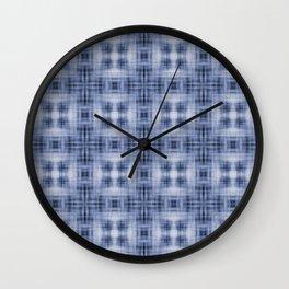 Shibori Japanese Kimono pattern Wall Clock