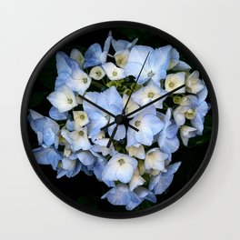 Watercolour Rain - Hydrangea in the Rain Wall Clock