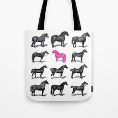 Brave Horses & Pink Pony Tote Bag