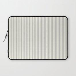 Bespoke Farmhouse Gray Ticking Stripe Laptop Sleeve