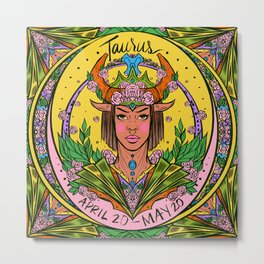 Zodiac: Taurus Metal Print