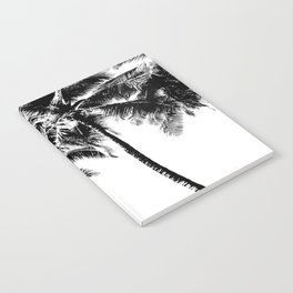 Black and White Palm Tree with Hawaii Summer Sea Beach Notebook