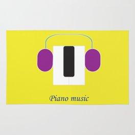 Piano music Rug
