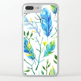 Feathers Pattern 05 Clear iPhone Case