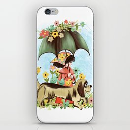 Rain on the green grass, Rain on the tree, Rain on the housetop, But not on me iPhone Skin