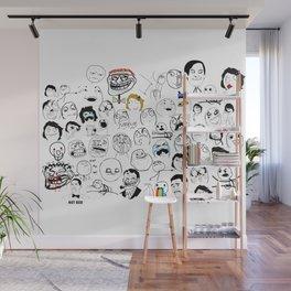 Meme Faces Wall Mural