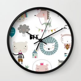 kids cute stuff Wall Clock