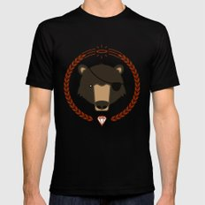 Mr. Bear X-LARGE Mens Fitted Tee Black