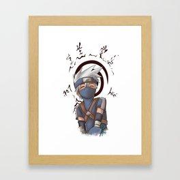 Young Kakashi and Seal Framed Art Print