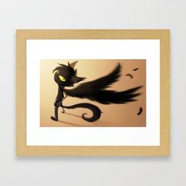 The Black Cat Framed Art Print