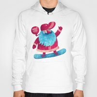 snowboard Hoodies featuring Snowboard Santa by Lime