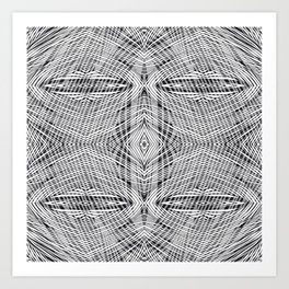 stripe power Art Print
