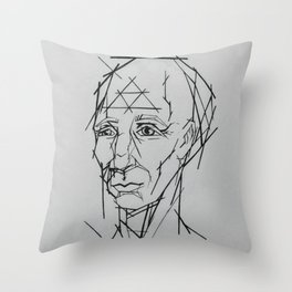 Mr. Linear Throw Pillow