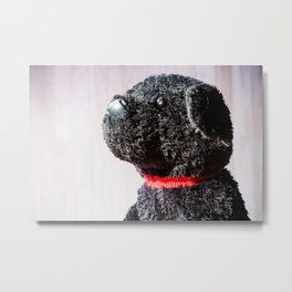 Stuffed Animal Puppy Portrait 4 Metal Print