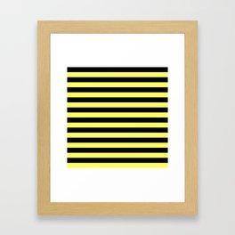 Stripes (Black & Yellow Pattern) Framed Art Print