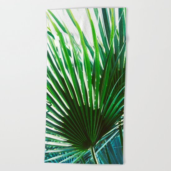 Bright Palm 4 Beach Towel