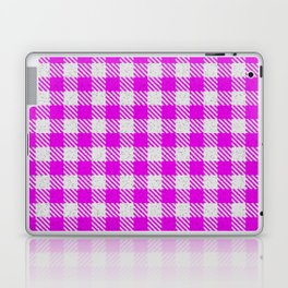 Magenta or Fuchsia Buffalo Plaid Laptop & iPad Skin