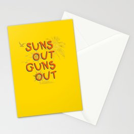 Guns Out Stationery Cards