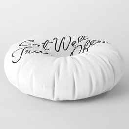 eat well travel often Floor Pillow