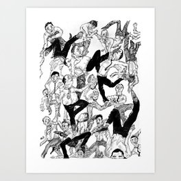 The Scuffle Art Print