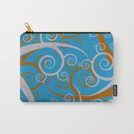 Blue Swirl Pattern Carry-All Pouch