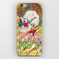 punk iPhone & iPod Skins featuring Punk by dogooder