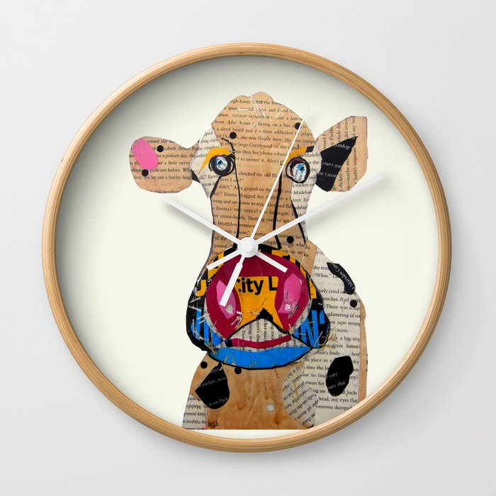 cow frazer Wall Clock