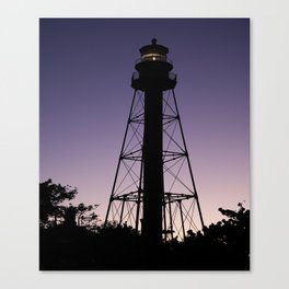 Sanibel Island Lighthouse Sunset Canvas Print