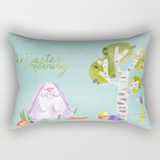 Easter Morning I- Animal Rabit Hare Bunny Spring for children Rectangular Pillow