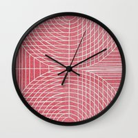 boobs Wall Clocks featuring Robotic Boobs Red by Mr Christer Design