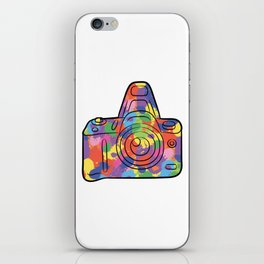 Colorful Camera - Colors Photography Photographer Photo iPhone Skin