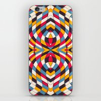 stained glass iPhone & iPod Skins featuring Stained Glass by Danny Ivan