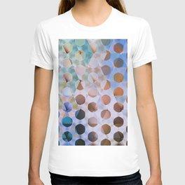 Circles on Triangles Cool Blues Tan T-shirt