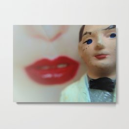 Pop Hot White Tux Red Lips (PHWTRL) Metal Print