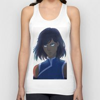 the legend of korra Tank Tops featuring Korra by Nymre