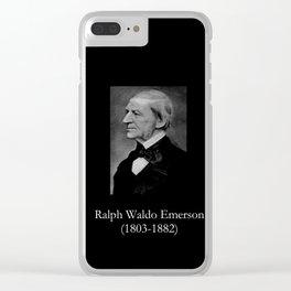 portrait of Ralph Waldo Emerson Clear iPhone Case