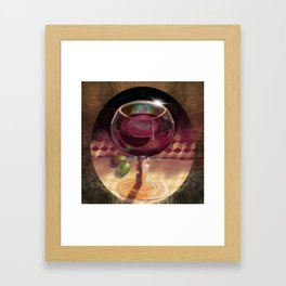 Wine and Grapes Framed Art Print