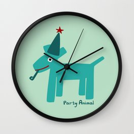 Party Animal-Teal Wall Clock
